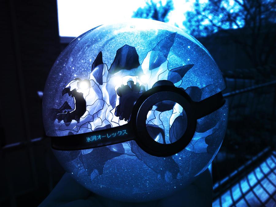 Wazzy88 + Masterthecreator: Pokeball of Glacaurex by wazzy88