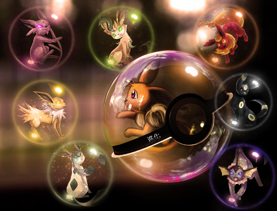 Eeveelutions Pokeball 2 by wazzy88