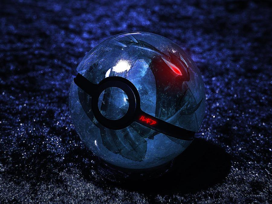 The Pokeball of Dark Lugia by wazzy88