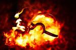 The Pokeball of Fire type Arceus