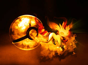 The Pokeball of Ghost Leafeon by wazzy88