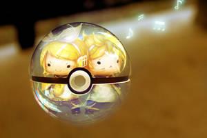 Chibi Rin and Len Pokeball (Vocaloid)