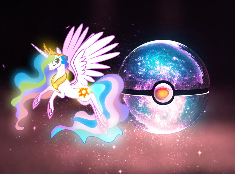 The Pokeball of Princess Celestia by wazzy88