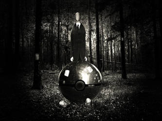 The Pokeball of Slenderman by wazzy88