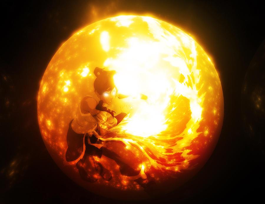 Korra the firebender by wazzy88