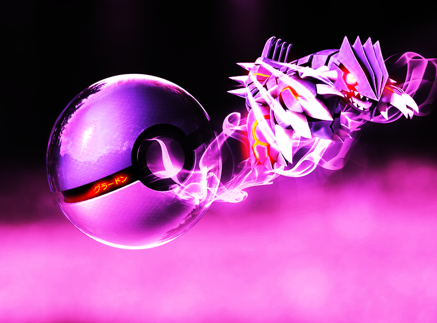 The Pokeball of Ghost Groudon by wazzy88