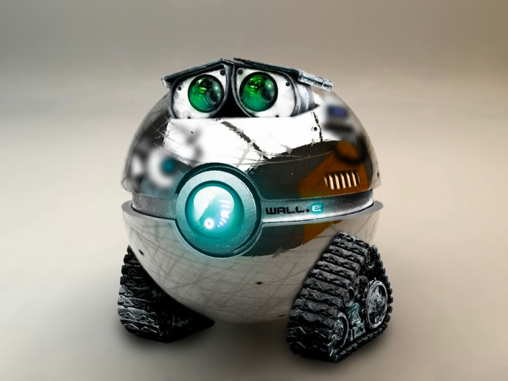 WALL-E POKEBALL by wazzy88
