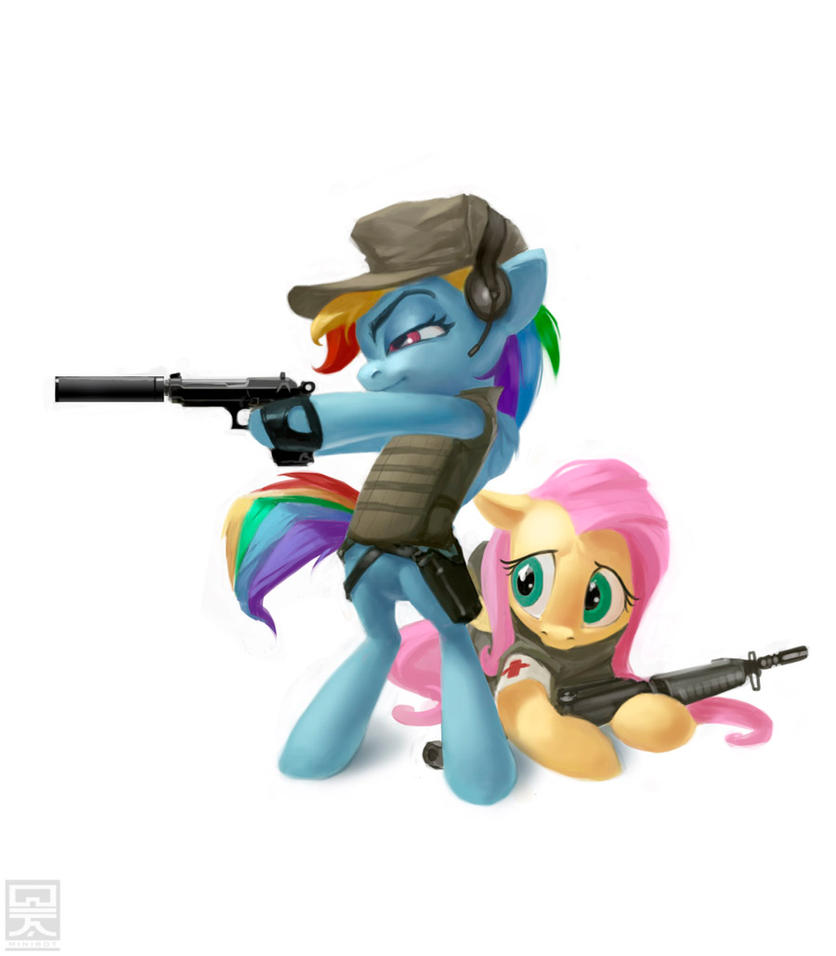 Battlefield ponies by Minibot-1