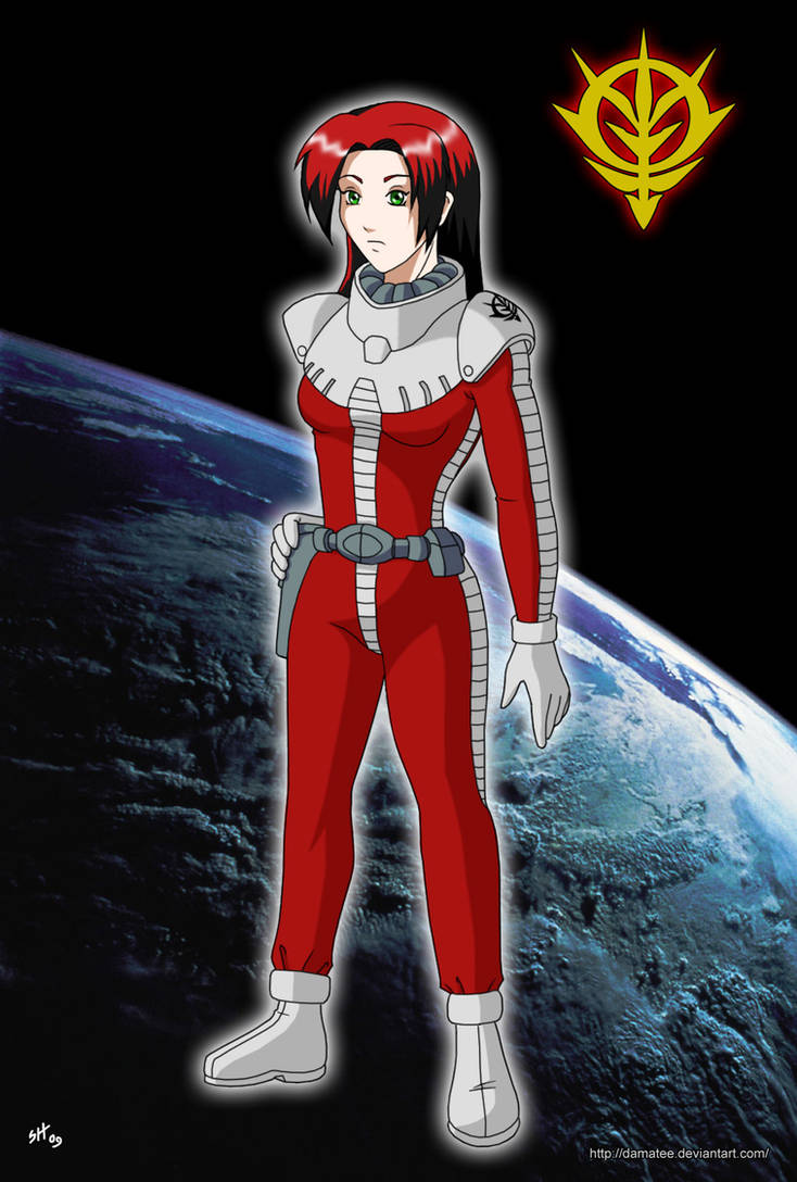 Gundam: Zeon Girl by Damatee on DeviantArt