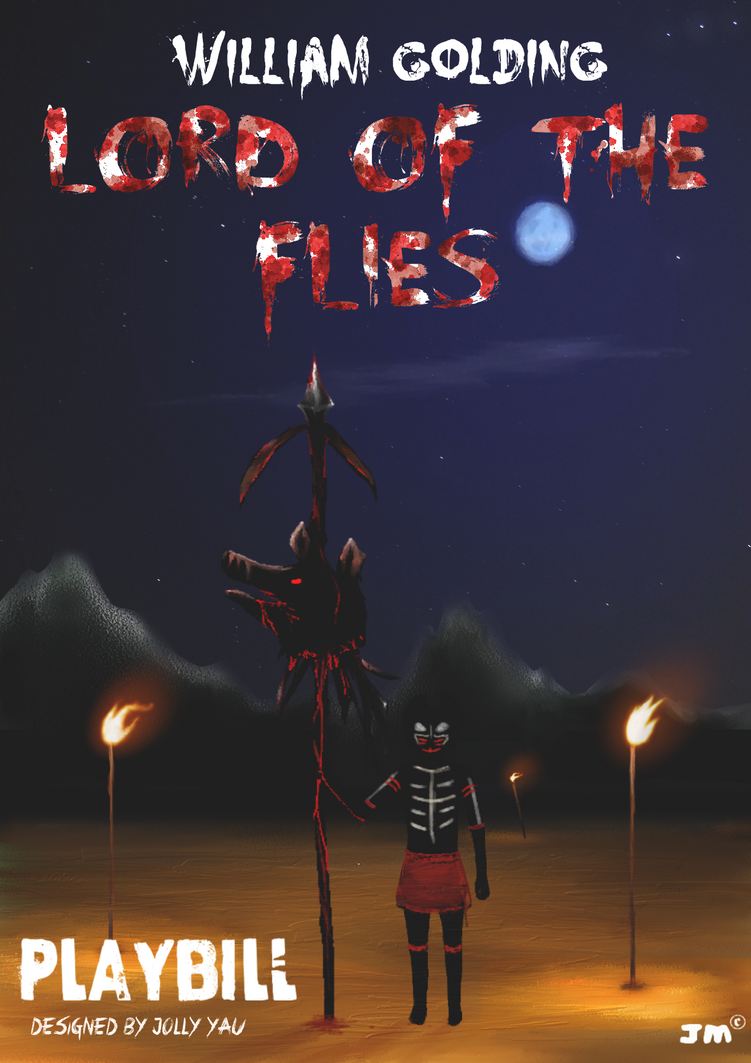 lord of the flies senior school drama playbill by greyfaerie