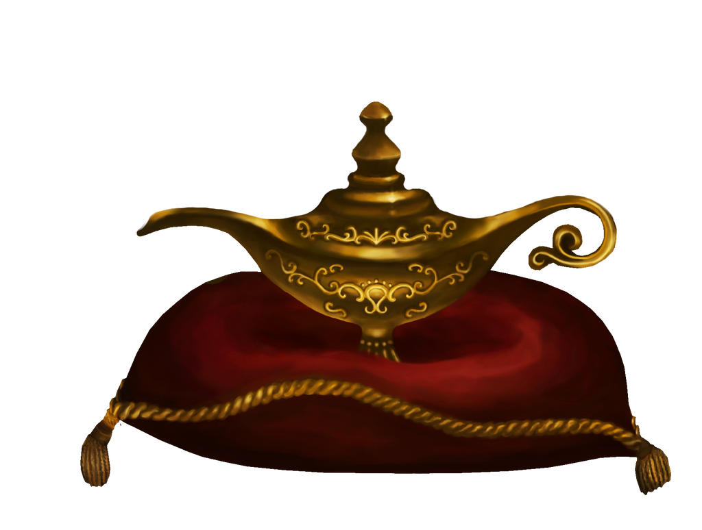 Magic Lamp Clipart Stock: aladdin's magic lamp by