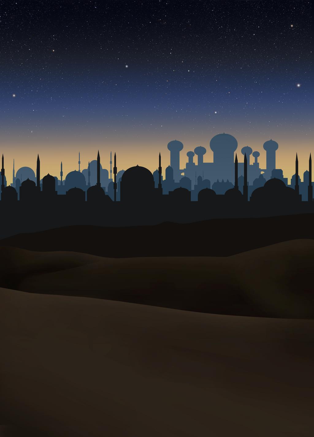 stock  aladdin night scene background by greyfaerie4 on