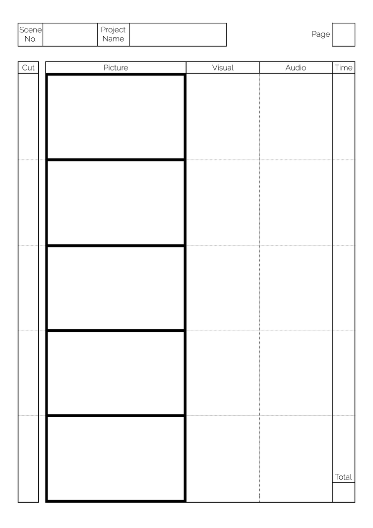 Storyboard Template By Greyfaerie4 ...