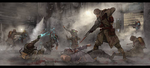 Bunker Encounter by VookaSheen