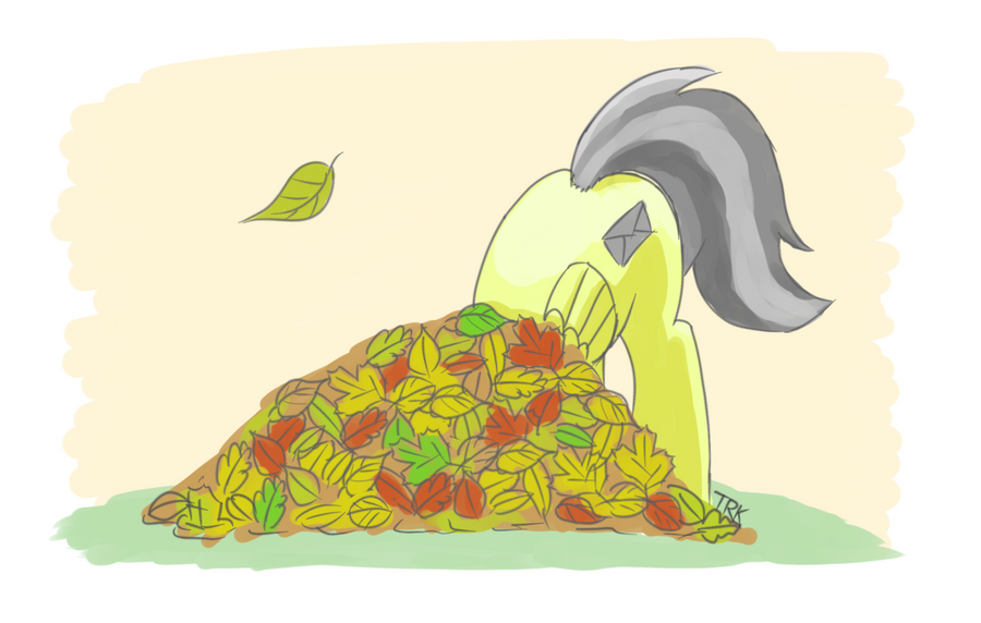 Pile of autumn leaves by Ter0k