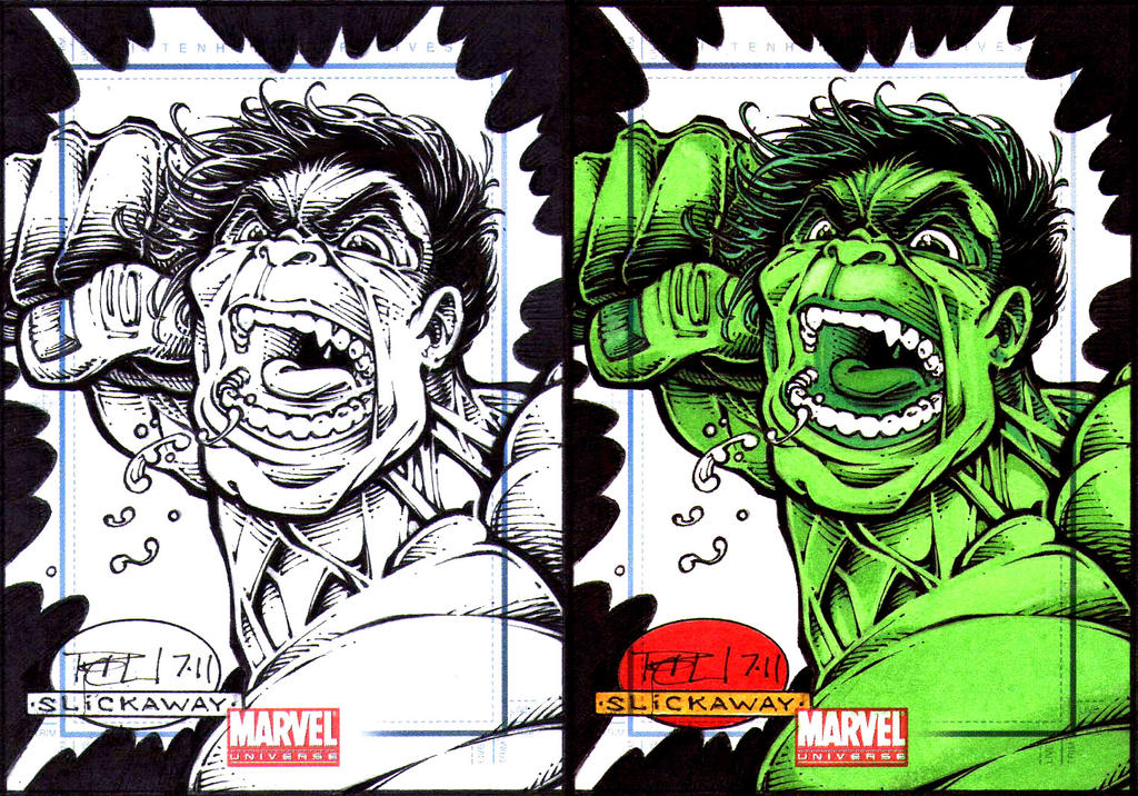 Hulk Marvel Universe Sketch Card Jam 1 Cox Slick 270367608 furthermore Walking Dead Sketch Card Zombie Madness 6 Unused 268180724 additionally Sketchcard Saloon World Ch ionships Second Round Part Two likewise AspergillusOryzae moreover Spiderman Civil War Sketch Card Marvel Universe 271971207. on slickaway