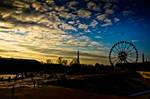 Sunset in tuileries
