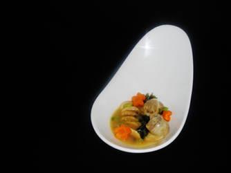 Abalone wonton miso soup by Kurumi-Asuka