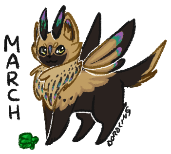 Mothcat of the Month - March by floramisa