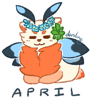 Mothcat of the Month - April by floramisa