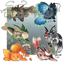 Freshwater Mothcats Auction [CLOSED] by floramisa