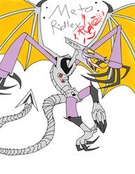 Meta-Ridley: Draconic Lunatic by MasterofNintendo