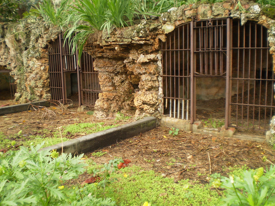 Old bear cages by Twister4evaSTOCK