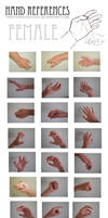 Female hand references by Twister4evaSTOCK