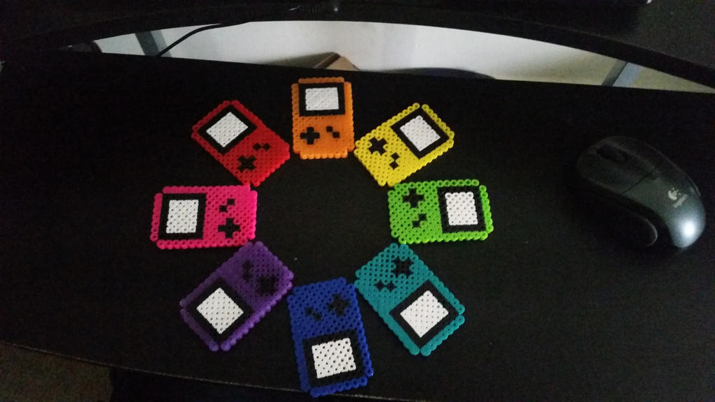 Perler Rainbow Game Boys by AnimeKing0