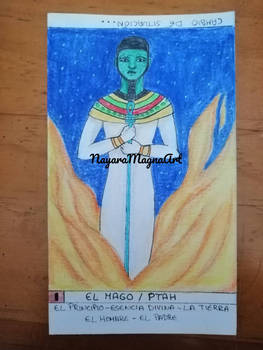 Tarot 1 El Mago (dios Ptah)