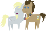 Pointy Ponies- Derpy and Doctor Hooves
