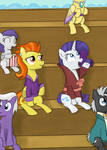 MLP: Stormy Flare + Rarity in the Stands