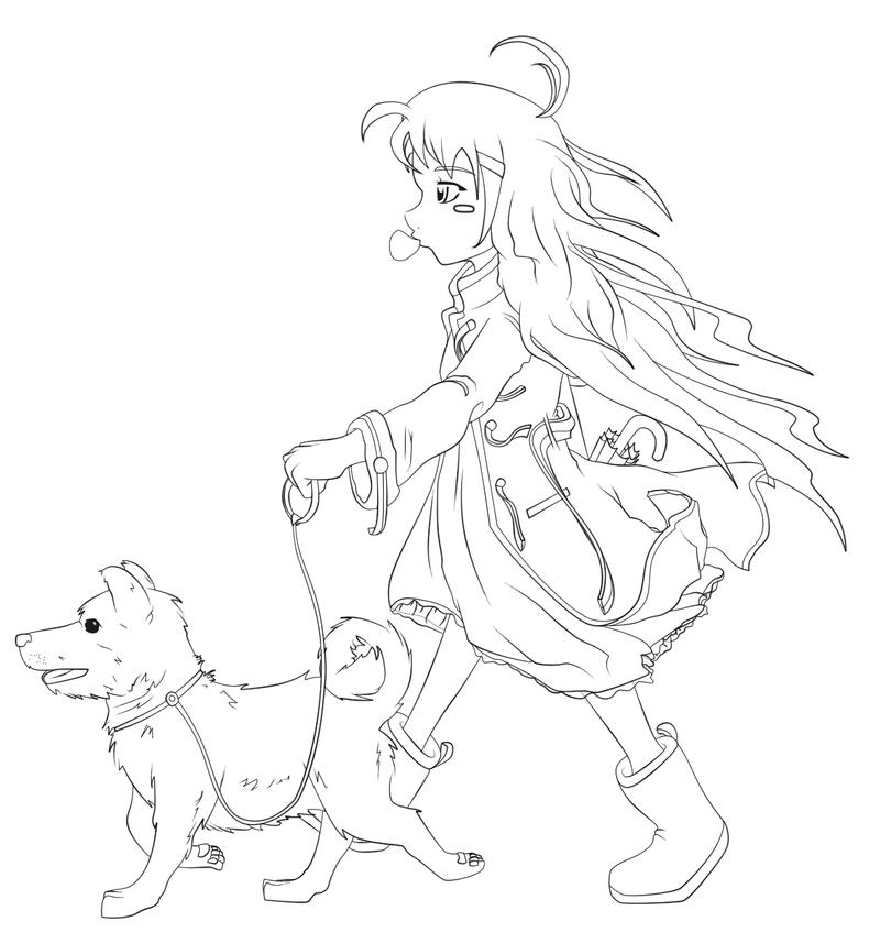 Shiba Inu Coloring Page