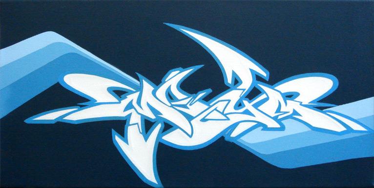 """Blue """"MAYM"""" Style by mayhemarts"""