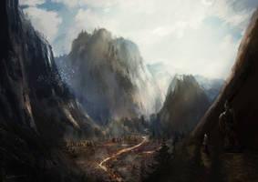 Comission: Mountain village by HentaiNeko