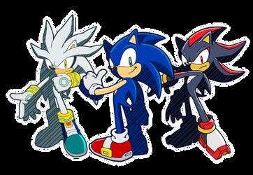 Sonic Silver Shadow Riders Channel Style by Zephyros-El