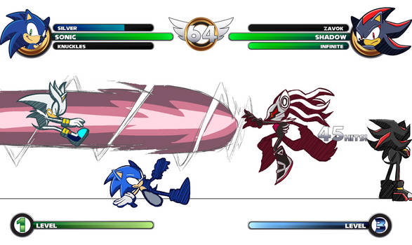 Sonic Fighting Game Mockup (ROUGH WIP)