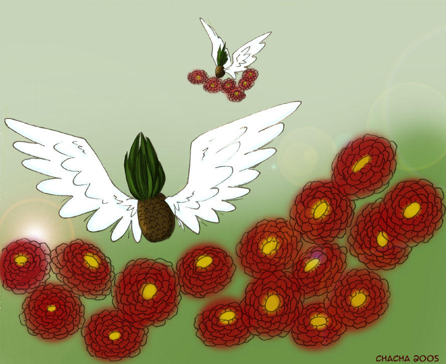 Flying Pineapples by wastedsacrifice