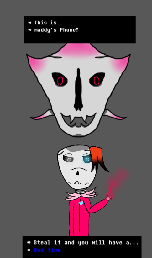 This is ___ phone (undertale lockscreen i made) by maddyfairyqueen