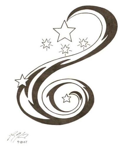 Star tattoo swirl by darkhalf05 on deviantart for Swirl tattoo designs