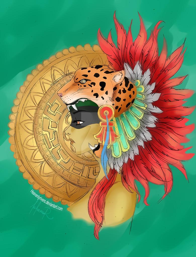 Tocado Penacho Azteca (imitacion) by HeavenlyRivers