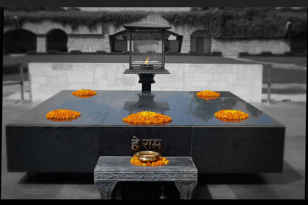 Raj Ghat Gandhi samadhi by anujdhingra