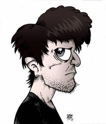 Gorillaz-styled portrait by GrimJimmy