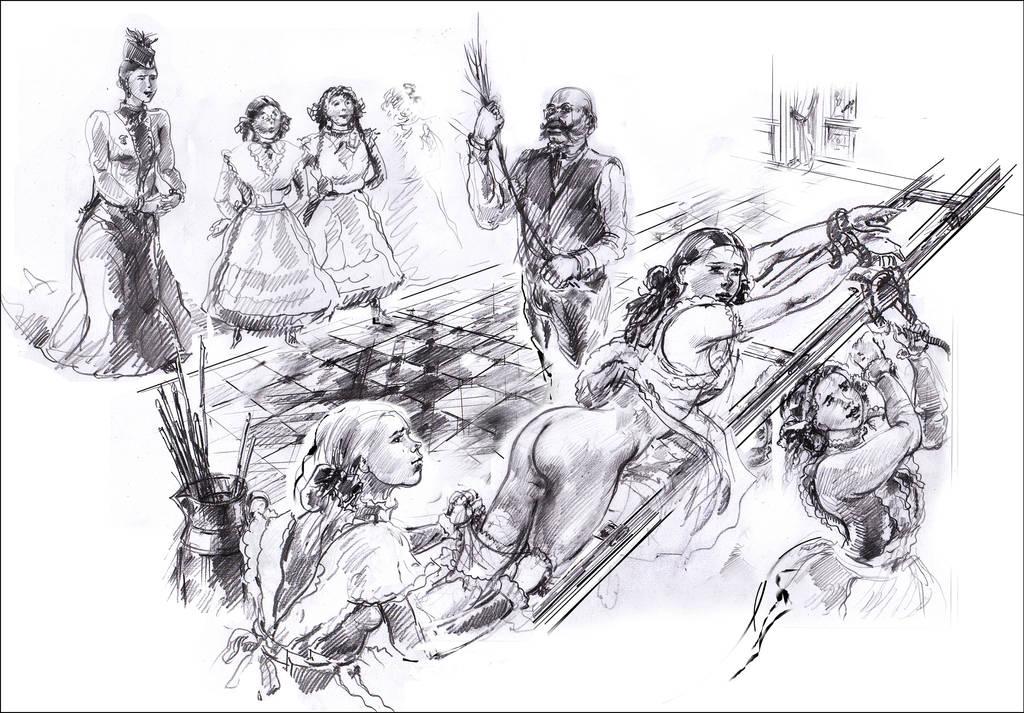 Girls school flogging by kindinov