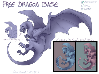 Free Dragon Base (With alternate versions)