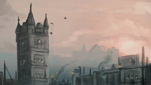 Old City Environment Sketch