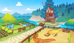 Paleo Pines Ranch Concept Art by Taluns