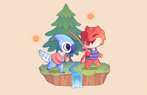 Paleo Pines x Animal Crossing by Taluns