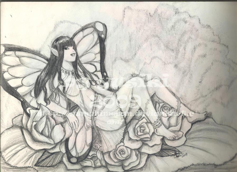 dibujos a lapiz de hadas hada a lapiz by yumehimesan