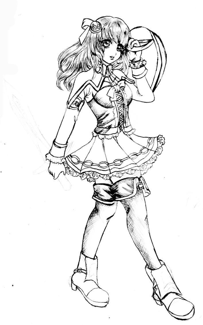 pyrrha sketch by YumeHimeSan